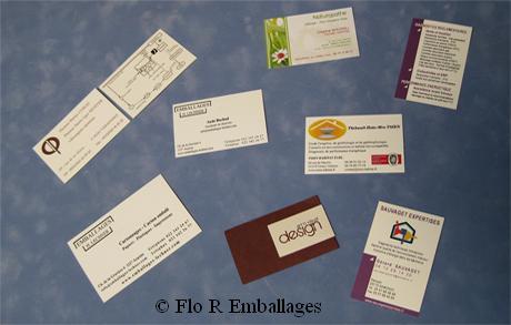 Cartes De Visite Avec Impression Recto Ou Et Verso