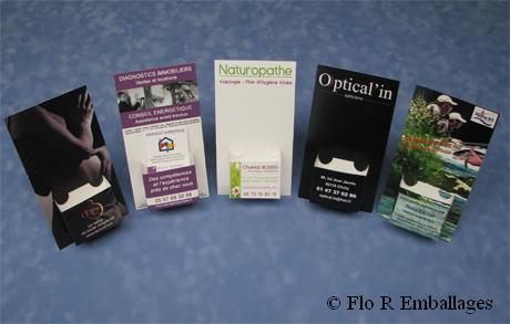 Presentoirs Pour Cartes De Visite Avec Impression Quadri Contenance Ou